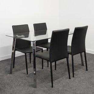 Remillard Dining Set 4 Chairs By Wade Logan