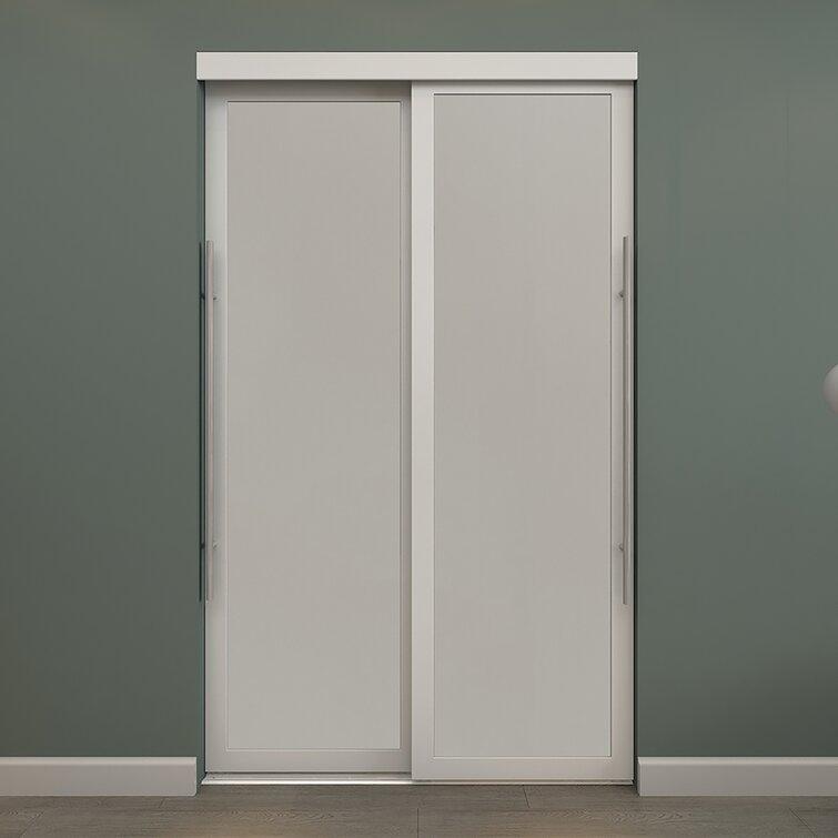 Colonial Elegance Glass Sliding Closet Doors With Installation Hardware Kit Wayfair
