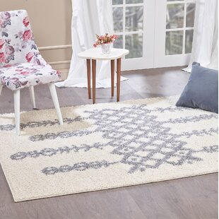 Aidric Shaggy Contemporary Ivory Rug by Norden Home