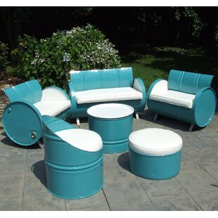 Drum Works Furniture Del Ray 6 Piece Sofa Set with Cushions