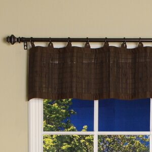 Pelico Bamboo Ring Top Cotton Tailored Curtain Valence