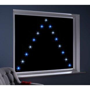Snowflake V Window Curtain Christmas Static LED 15 Light Net Lights By The Seasonal Aisle