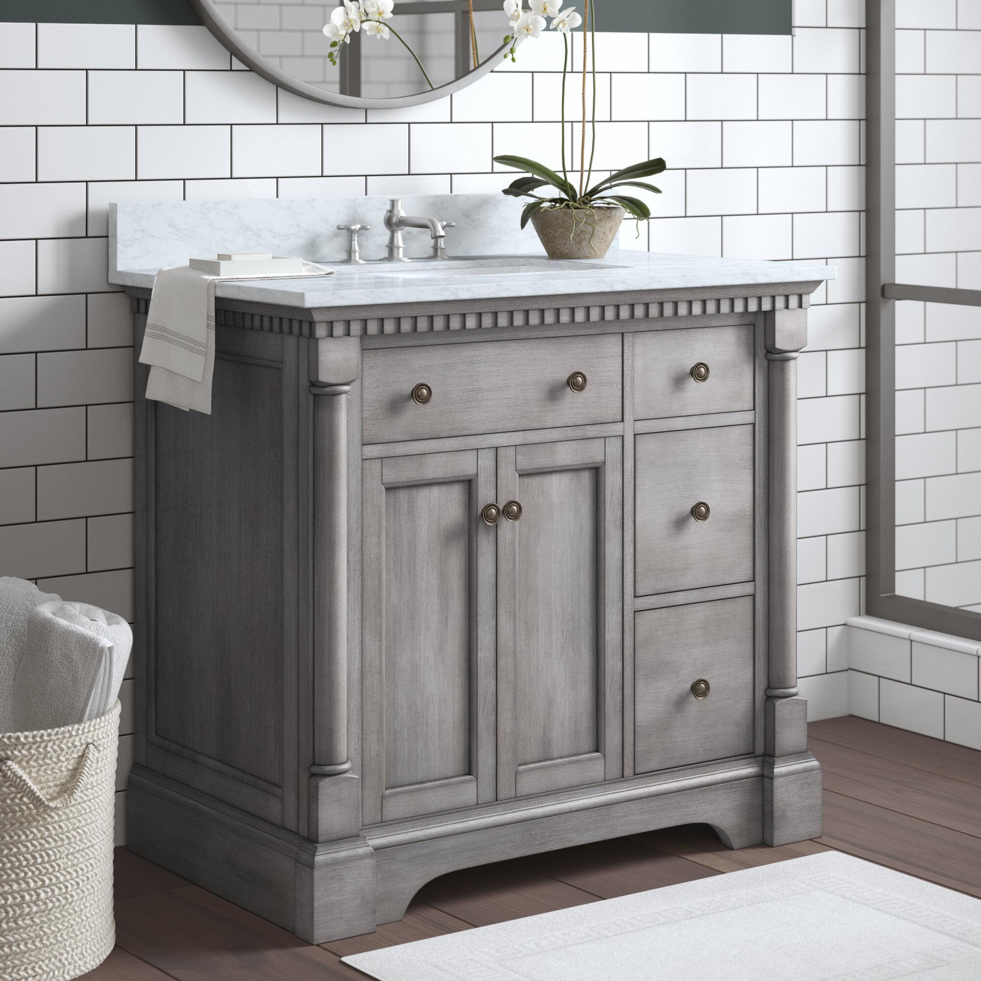 Bathroom Vanities.Seadrift 37 Single Bathroom Vanity Set