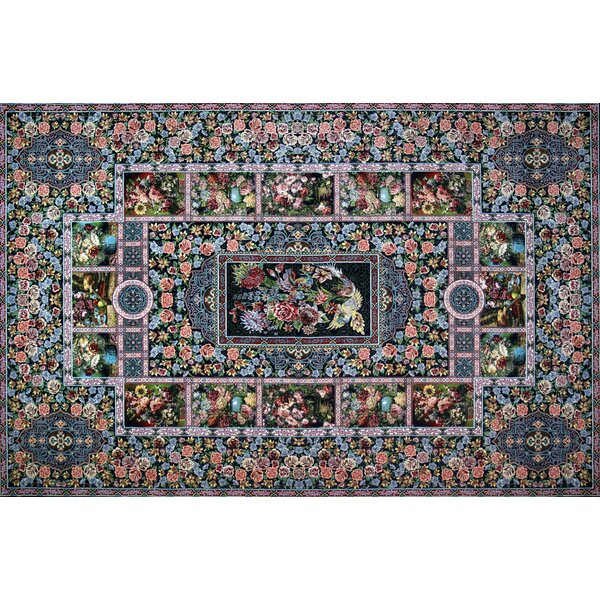 Astoria Grand Mercier Hand Look Persian Wool Green Blue Pink Area Rug Wayfair
