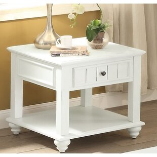 Andrew Home Studio Spriggs End Table with Storage