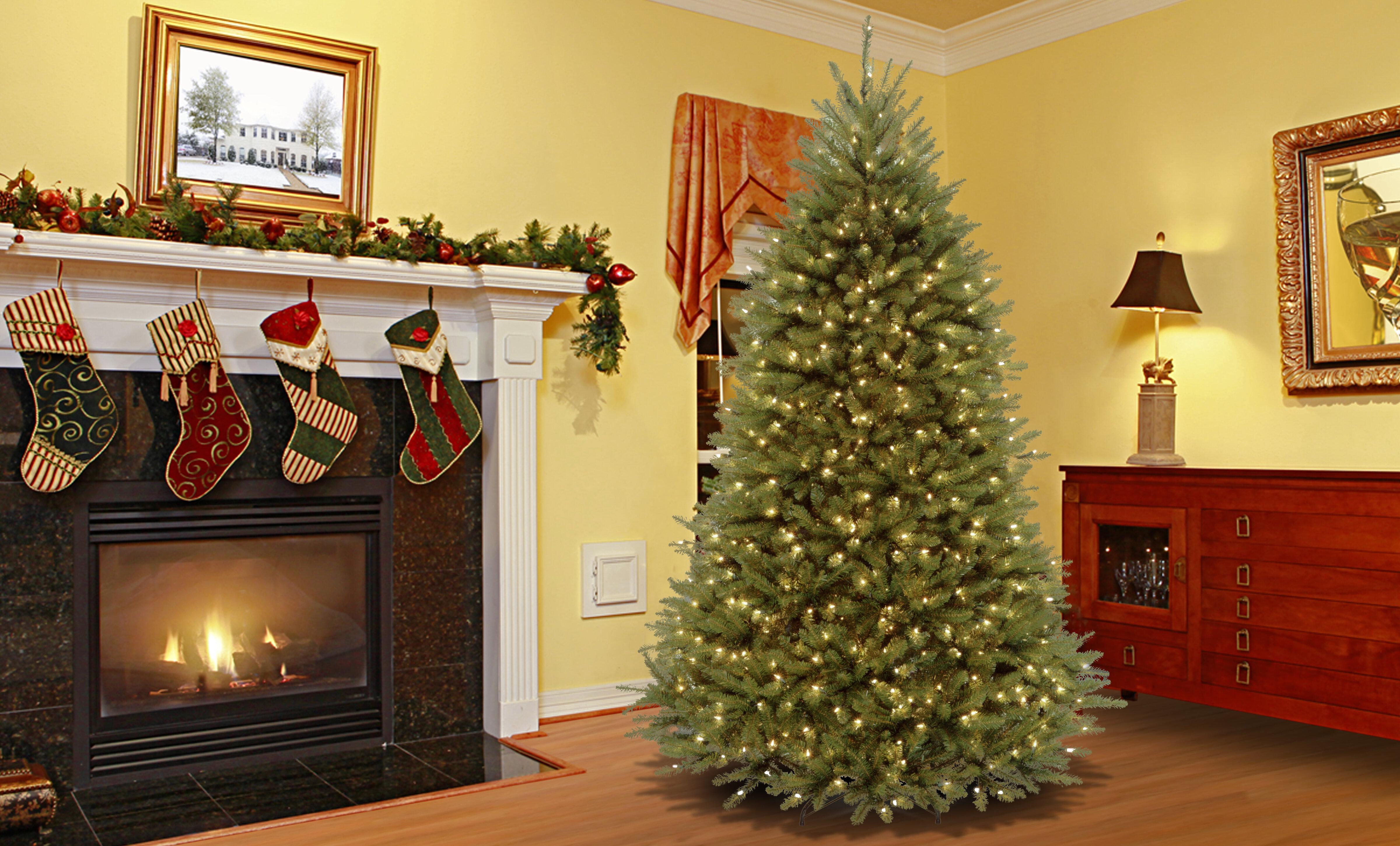 Mercer hinged fir trees green fir trees artificial
