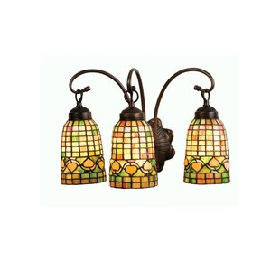 Meyda Tiffany Victorian Lodge Tiffany Acorn 3-Light Vanity Light