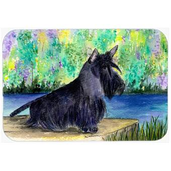 East Urban Home Lady With Her Papillon Glass Cutting Board Wayfair
