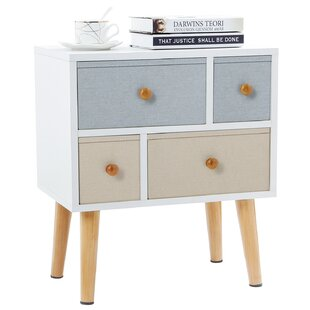 Reviews 4 Drawer Nightstand by Lifewit