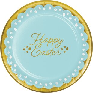 Hollie Easter Disposable Dessert Plate (Set of 24)
