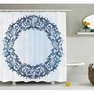 Roxy Floral Circle Zen Single Shower Curtain