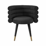 Hallatrow Tufted Velvet Arm Chair by Everly Quinn
