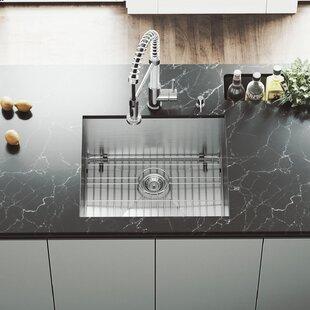 Alma 23 Inch Undermount 16 Gauge Stainless Steel Kitchen Sink