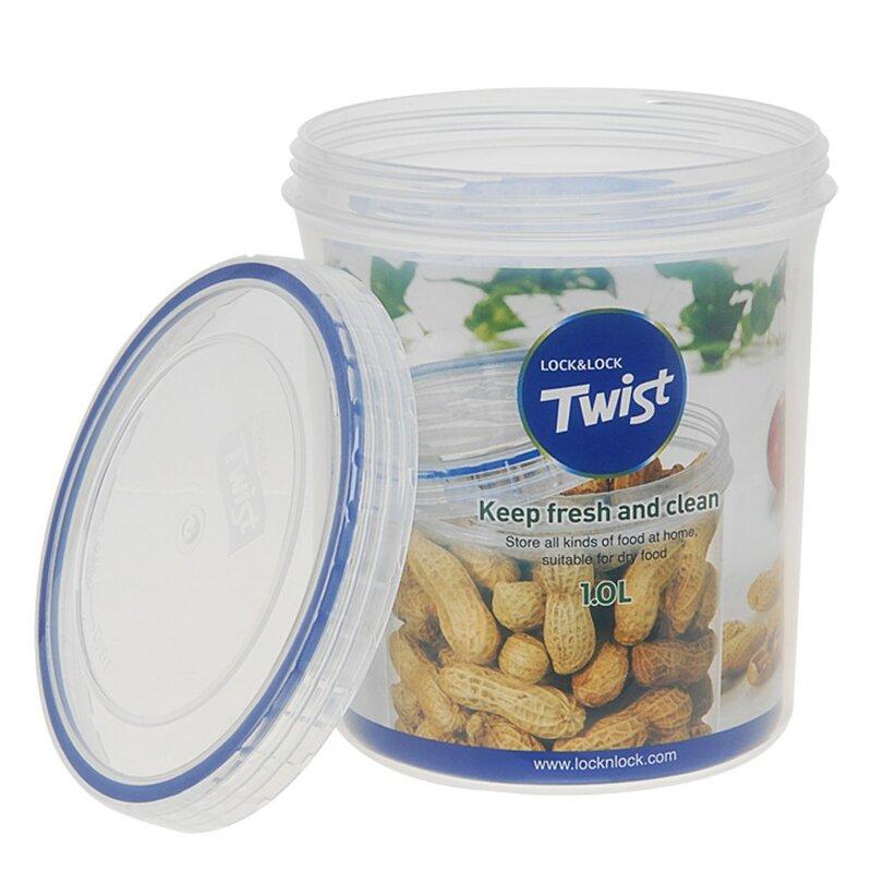 Twist Top Round 33.6 Oz. Food Storage Container  sc 1 st  Wayfair & Lock u0026 Lock Twist Top Round 33.6 Oz. Food Storage Container | Wayfair