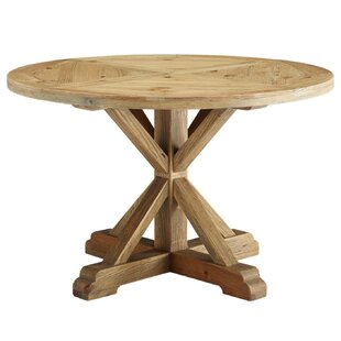Indurial Solid Wood Dining Table by Millwood Pines Modern