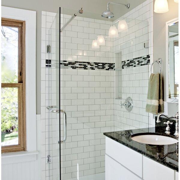 Emser Tile Semplice 6 X 3 Ceramic Bullnose Trim In White Gloss Wayfair