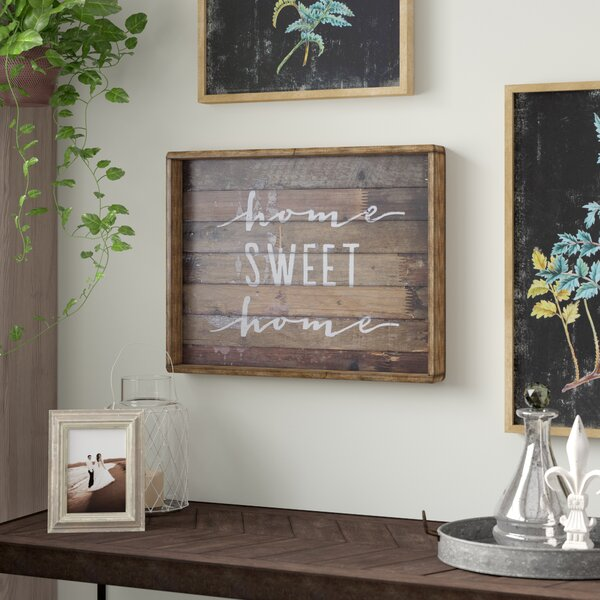 Home Sweet Home Sign Wayfair