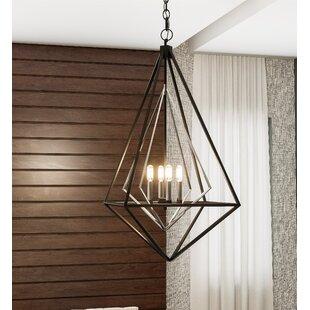 Fawn Foyer Piece 4-Light Geometric Chandelier by Wrought Studio