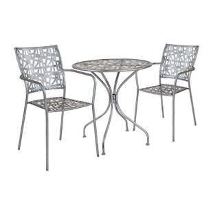 Fredricks Round 3 Piece Bistro Set by Ebern Designs