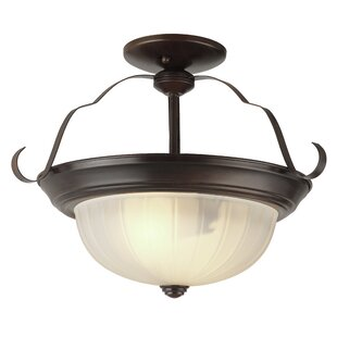 Broach Bowl Semi Flush Mount by Charlton Home