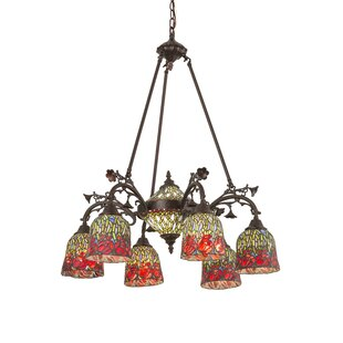 Meyda Tiffany Rosebud 8-Light Shaded Chandelier