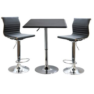 Southampton II 3 Piece Adjustable Height Pub Table Set by Latitude Run Comparison