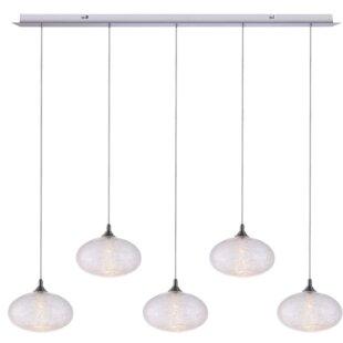 Alvie 5-Light LED Kitchen Island Pendant by Wrought Studio