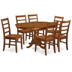 East West Furniture Portland 7 Piece Extendable Dining Set