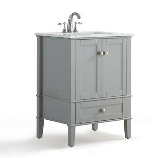 Chelsea 25 Single Bathroom Vanity with Quartz Marble Top by Simpli Home