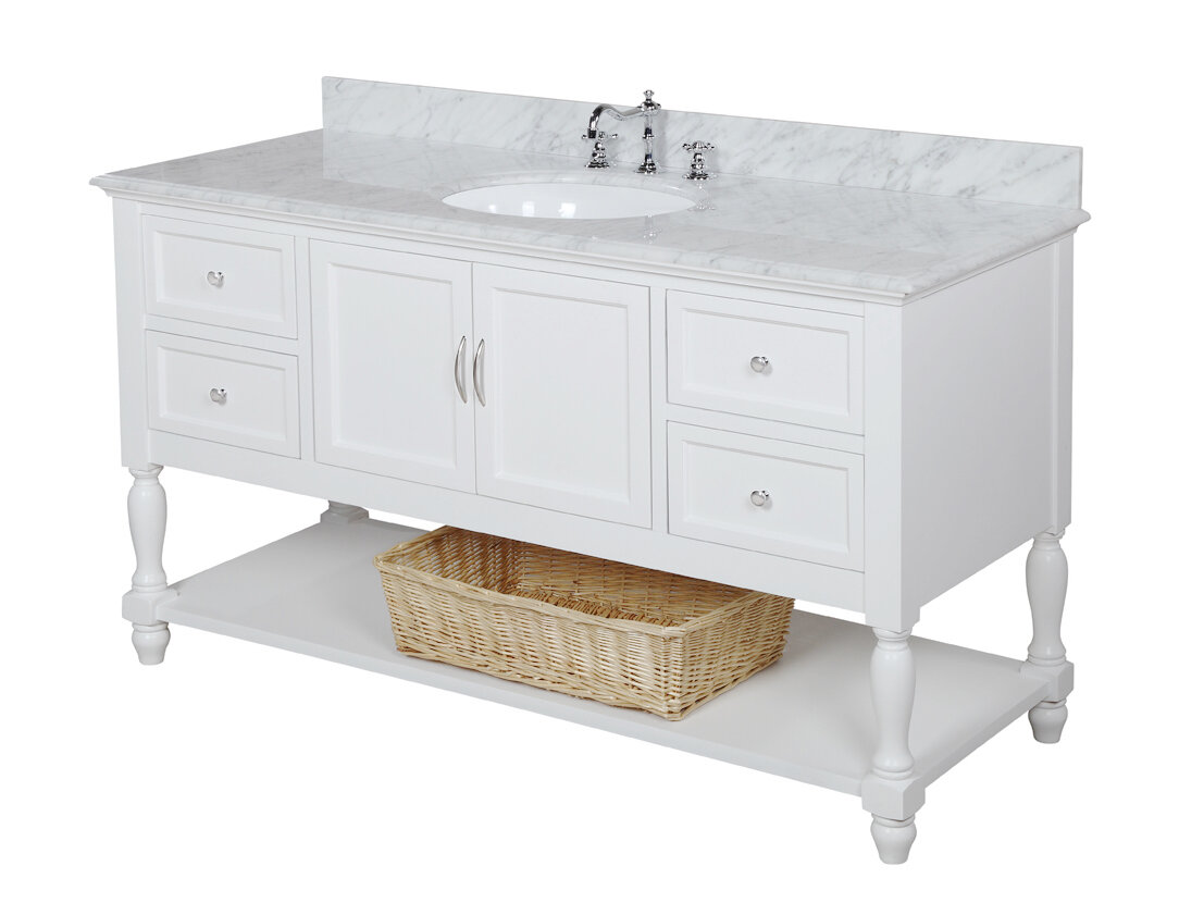KBC Beverly Single Bathroom Vanity Set Reviews Wayfair - Bathroom vanities birmingham al