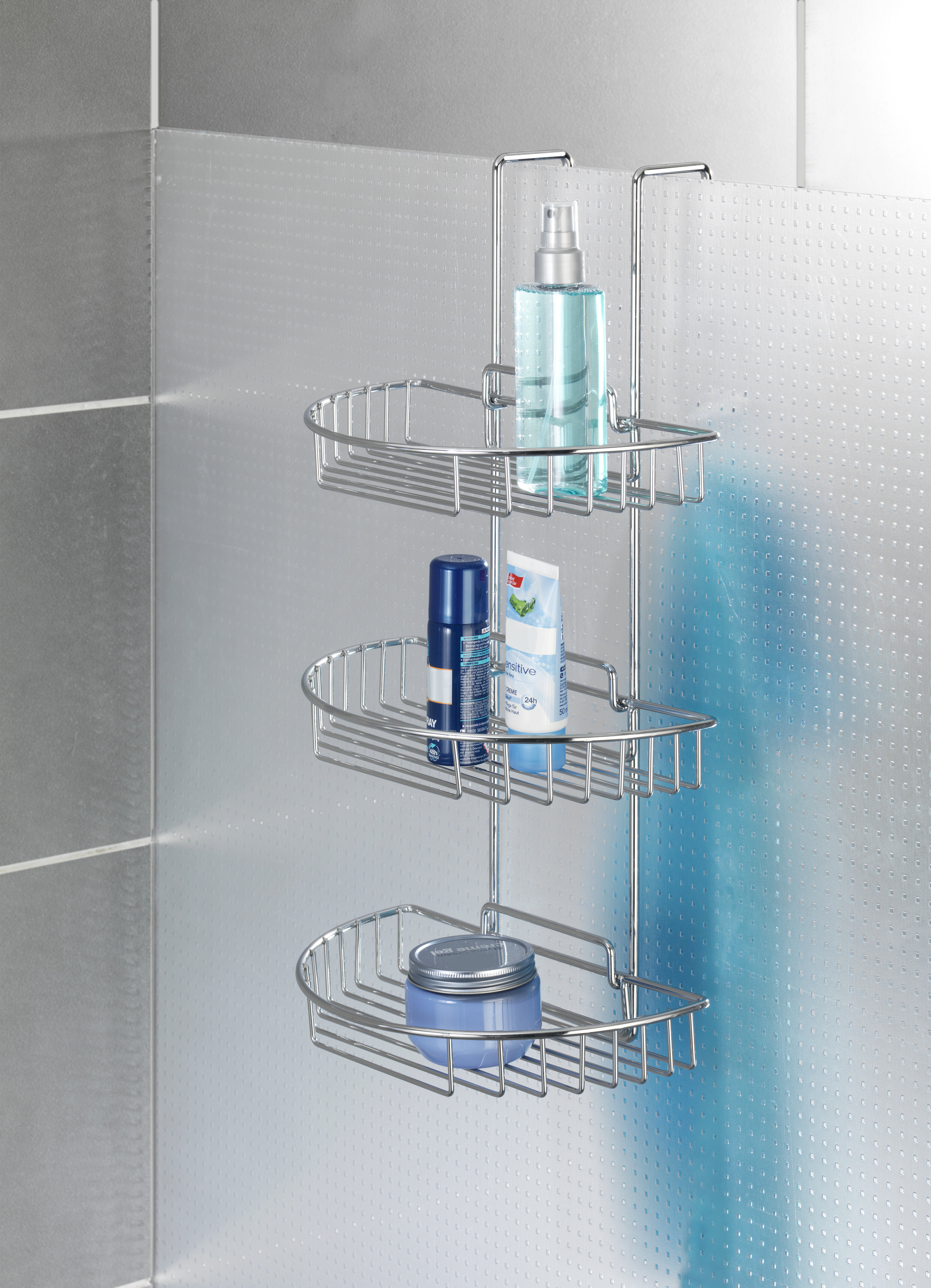 Wenko Chrome Wall Mounted Shower Caddy & Reviews | Wayfair.co.uk