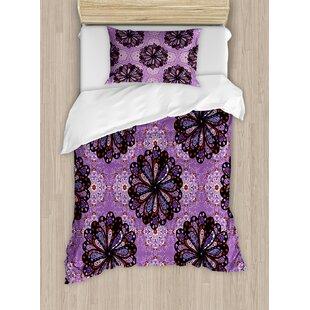 East Urban Home Mandala Vintage Ethnic Beauty Petal Elegance Boho Round Inspiration Design Duvet Set