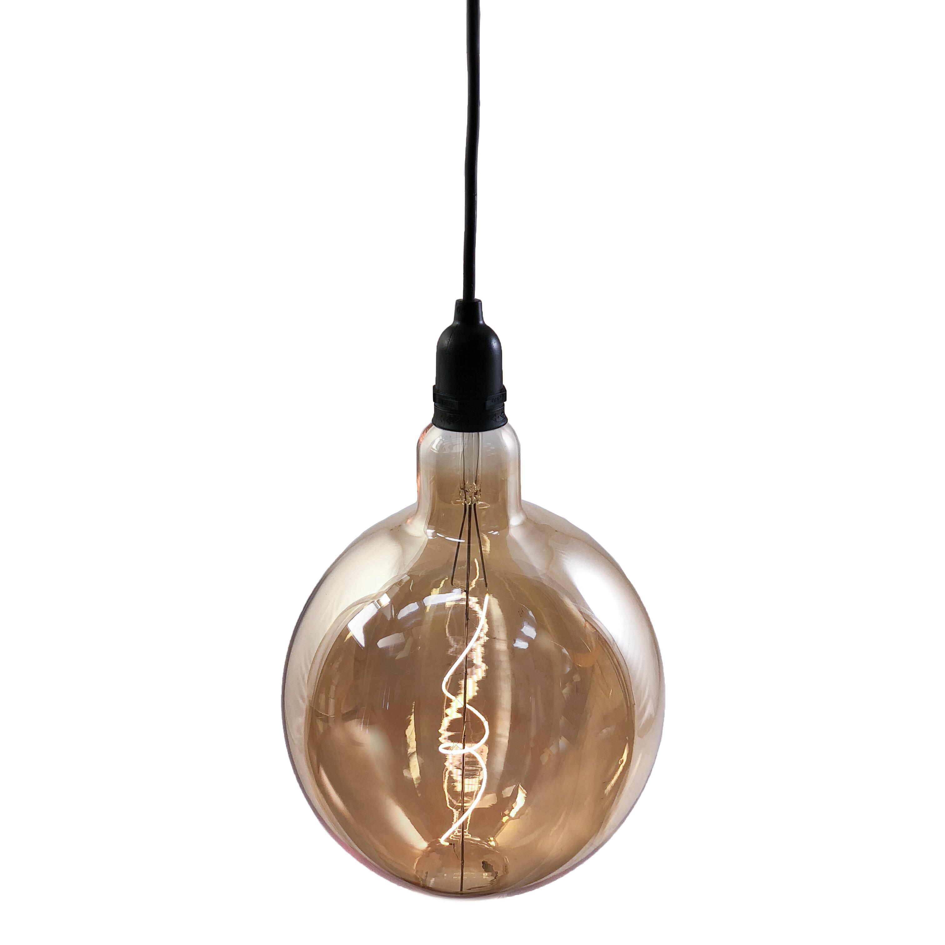 Williston Forge Beideman Battery Operated Globe 1 Light Led Outdoor Pendant Reviews Wayfair