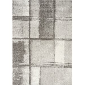 Celeste Ice Blocks Gray Area Rug