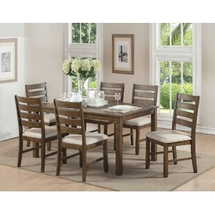 Wickliffe Wooden 7 Piece Dining Set Loon Peak