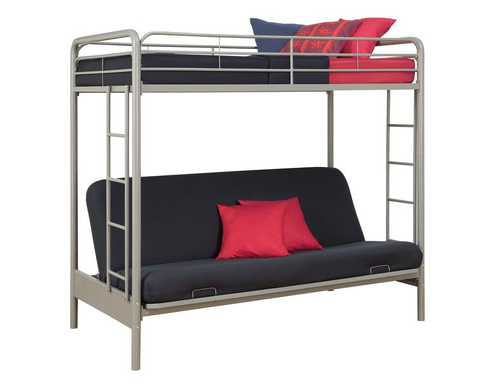 sanders twin over full futon bunk bed viv   rae sanders twin over full futon bunk bed  u0026 reviews   wayfair  rh   wayfair