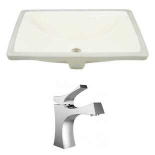 Purchase Ceramic Rectangular Undermount Bathroom Sink with Faucet and Overflow ByAmerican Imaginations