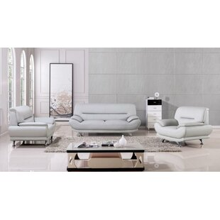 Knowlton 3 Piece Standard Living Room Set