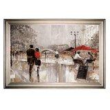 'Riverwalk Charm' - Oil Painting Print on Canvas