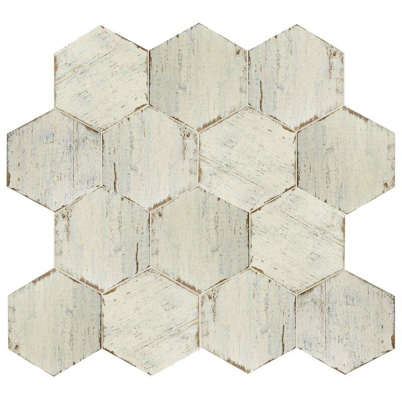 Porcelain Honeycomb Mosaic Wall Floor