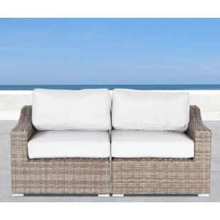 Huddleson Loveseat with Cushion by Rosecliff Heights