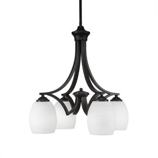 Red Barrel Studio Couto 4-Light Shaded Chandelier