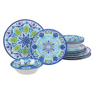 Hoehne 12 Piece Melamine Dinnerware Set, Service for 4