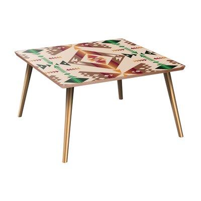 Bloomsbury Market Appleridge Coffee Table  Table Base Color: Brass, Table Top Color: Walnut