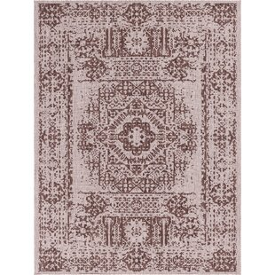 Crandell Brown/Beige Indoor/Outdoor Area Rug by Charlton Home 2019 Coupon