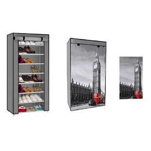 Compare Lauren Taylor Scenic Europe Big Ben 24 Pair Shoe Rack By Linen Depot Direct