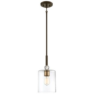 Ivy Bronx Friedman 1-Light Cylinder Pendant