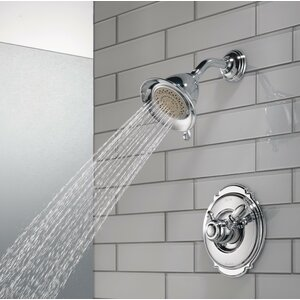 Victorian Pressure Balanced Diverter Shower Faucet Trim with Lever Handles and H2okinetic Technology