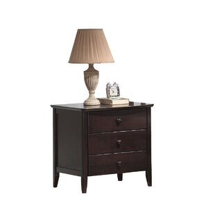 Hazley Wooden 3 Drawer Nightstand by Red Barrel Studio