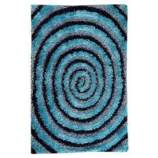 Inexpensive Landscape Hand-Tufted Blue/Black Area Rug ByM.A. Trading